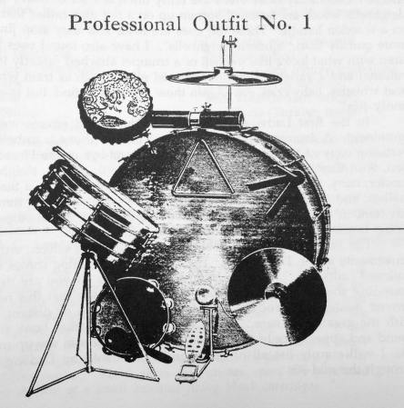 Ludwig drum set, 1919